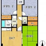 平面図-サンライズ鏡405号室(間取)